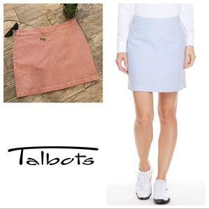 Talbots Seersucker Golf Tennis Skort